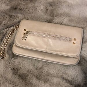 🍉TOPSHOP🍉Nude Clutch Gold Chain👍Like New👍